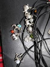 mini zodiac pendants with crystal